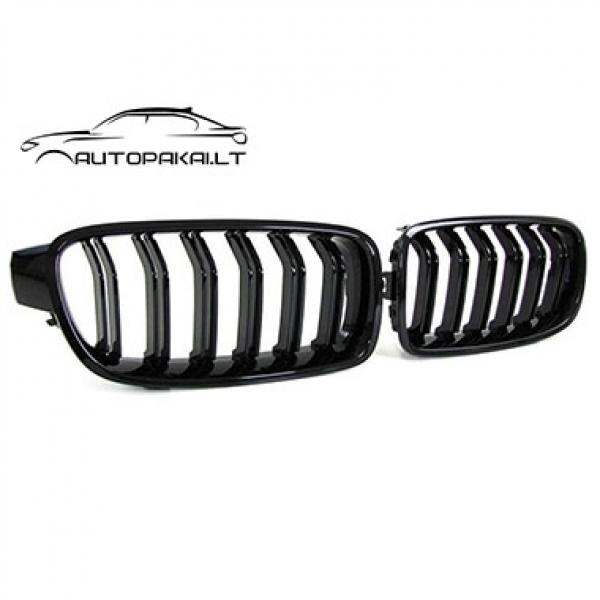 BMW F30 M-Performance grotelės (juodos, blizgios)