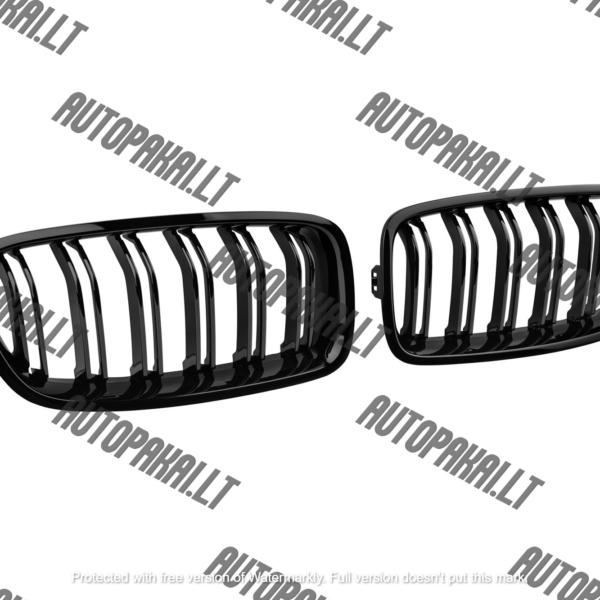 BMW F30/F31 tinkančios M-Performance grotelės (juodos, blizgios)